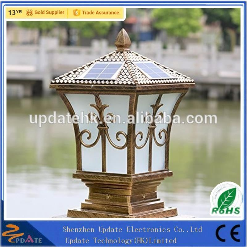European Classical High-grade Outdoor Decorative Solar Pillar light,Solar Fence Post light Wall Gate For Garden Yard