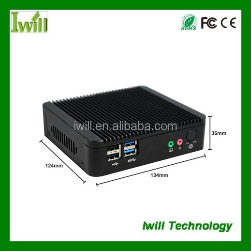 mini computer win xp/7/8/linux high quality usb2.0 Nano fanless pc