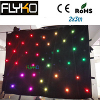 free shipping alibaba express in spanish LED curtain light full color RGB star cloth
