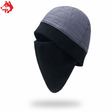 Hot sale autumn winter ear-protector cap warm face cover thickening outdoor sports hiking fleece hat