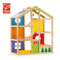 Little children kids baby wooden toys colorful doll house