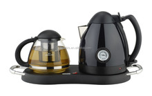 1.2L cordless tea set kettle with elegant & food-grade glass teapot water scale bpa free