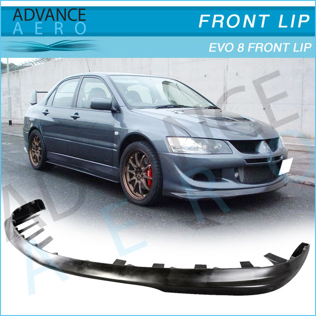 FOR 2003-2005 MITSUBISHI LANCER EVOLUTION 8 RALLI STYLE PU FRONT BUMPER LIP SPOILER BODY KIT