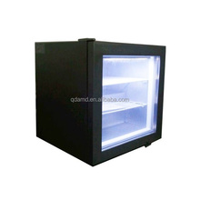 Mini ice cream display freezer with LED light