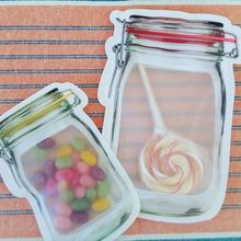 5oz Zip Lock Transparent Clear Plastic Bag Food Packaging for Cookies baked goods