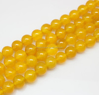 8mm natural gemstone beads jewelry accessory yellow agate string