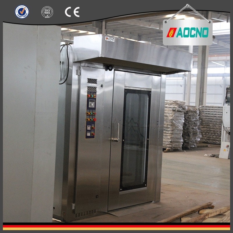 64 trays gas type bread baking hot wind rotary oven