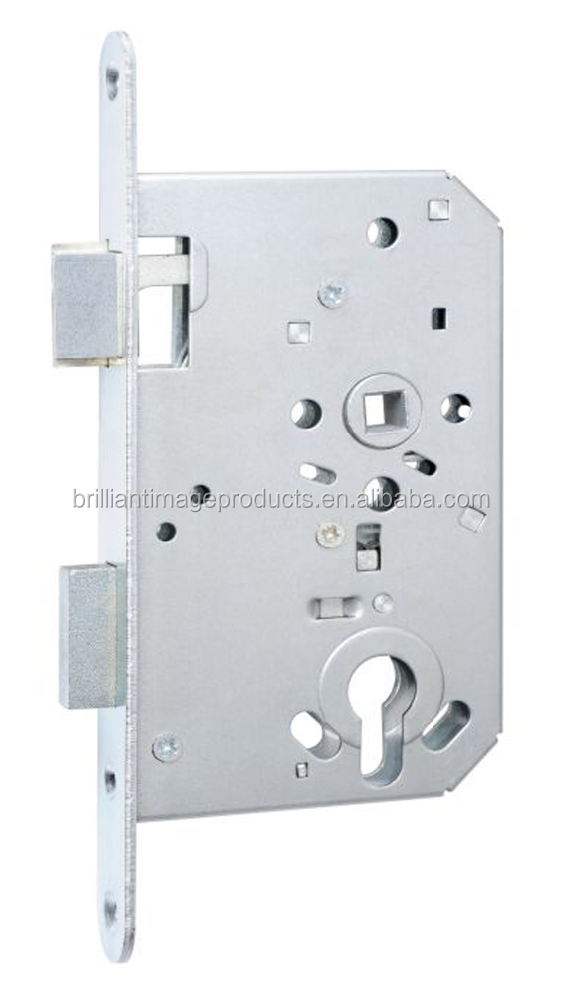 European security mortise door lock, cylinder lock body with Stainless steel plates