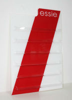 ESSIE ACRYLIC 90 BOTTLE NAIL POLISH ORGANIZER WALL RACK DISPLAY BRAND NEW RARE