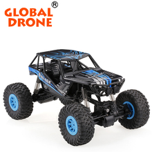 Best Global Drone Wltoys 10428-D 1:10 Four Wheels Drive Vehicle SUV Remote Control Vehicle Toy Climbing RC Car with LED Light