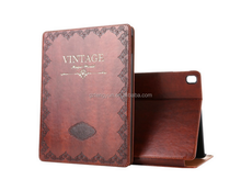 Modern Vintage Book Style Case for Ipad Pro9.7,PU Leather Smart Case Slim Fit Multi Angle Stand