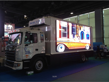 Large Size LED Panel Video Screen Advertising Truck & Van, Truck Van Video Advertising