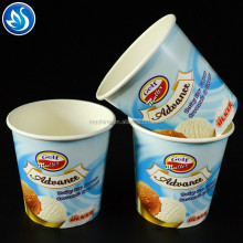 Disposable ice cream paper container with lid