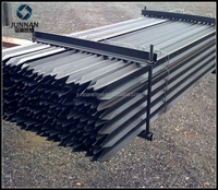 ASTM standard PVC coated y steel post fence for farm protection