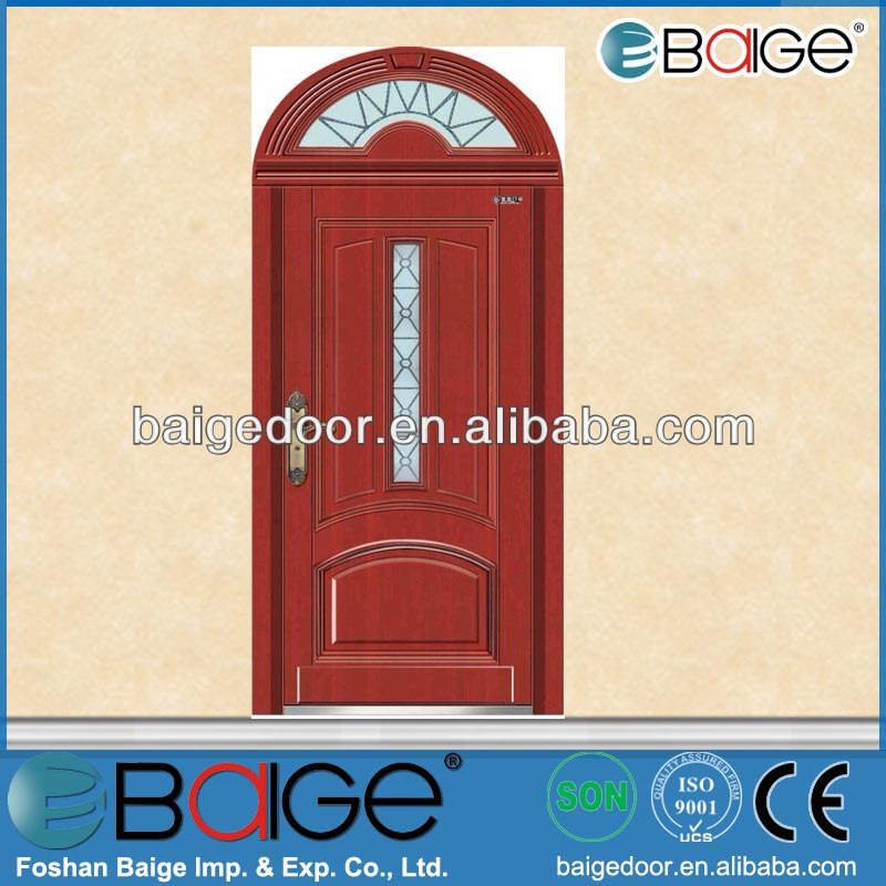 BG-A9045 cold rolled steel wood armored door for entry door