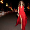 2016 New Fashion Design Summer Beautiful Women Sexy Sleeveless Chiffon Maxi Dresses