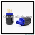 High Performance fiberglass Gold plated US Power Plug