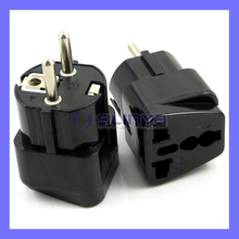 Modern Grounded Universal Schuko Plug Adapter Type E/F for Germany, France, Europe, Russia & more