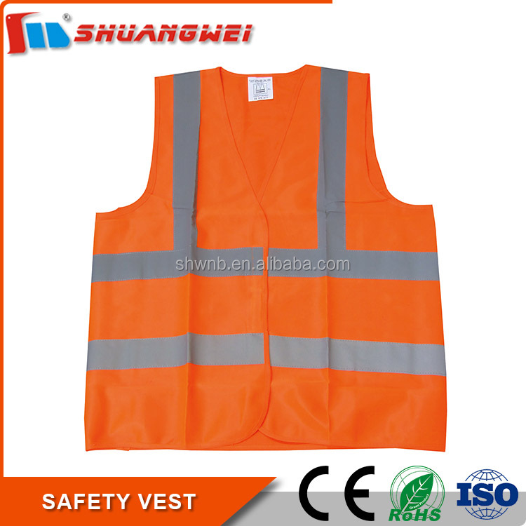 Customized high quality waterproof reflective safety vest