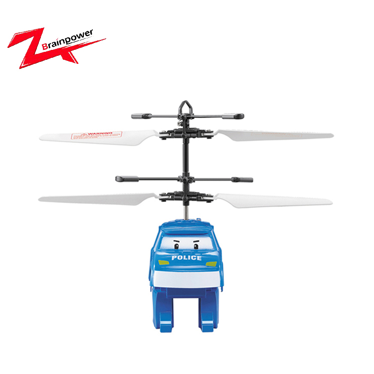 Mini kids toy induction flying plane policeman car