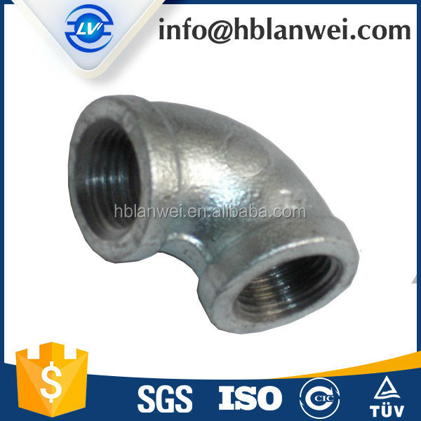 Hot dipped galvanized Malleable Iron fittings tee/pipe plumbing fittings