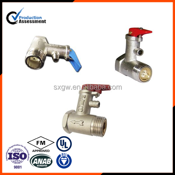 M&F thread brass safety valve hot sell electric water heater