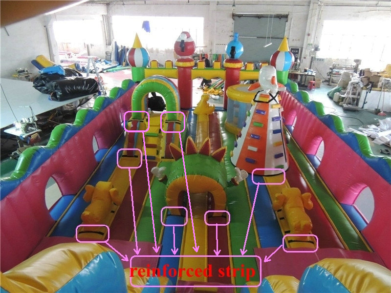 PVC slide style inflatable castle playground for children