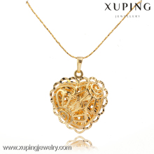 30414 Xuping imitation jewelry gold large heart pendants