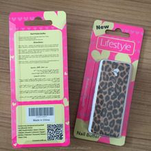 4 sides nail file buffer with PVC package box