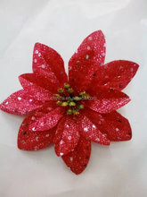 silk flowers head, artificial flowers head for Marry Christmas YZTA-1100