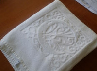 China supplier optical white 100% cotton hotel sauna towel