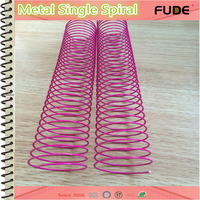 2015 hot sale ! All size from 6mm to 50 mm metal spiral binding, metallic coil