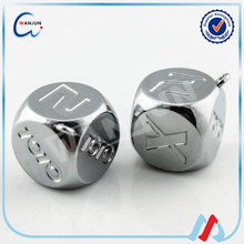 99% buyers choose custom new products metal colored dice
