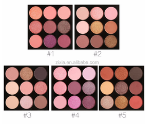 oem private label 9 color eyeshadow palette matte 9 colors eyeshadow palette with custom packaging