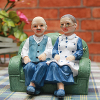 Top quality resin pvc couple doll lovely Custom plastic vividly couple resin crafts