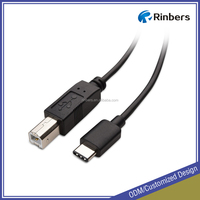 Factory Price High Speed USB 2.0 Type C to Type B (USB-B) Printer Scanner Cable