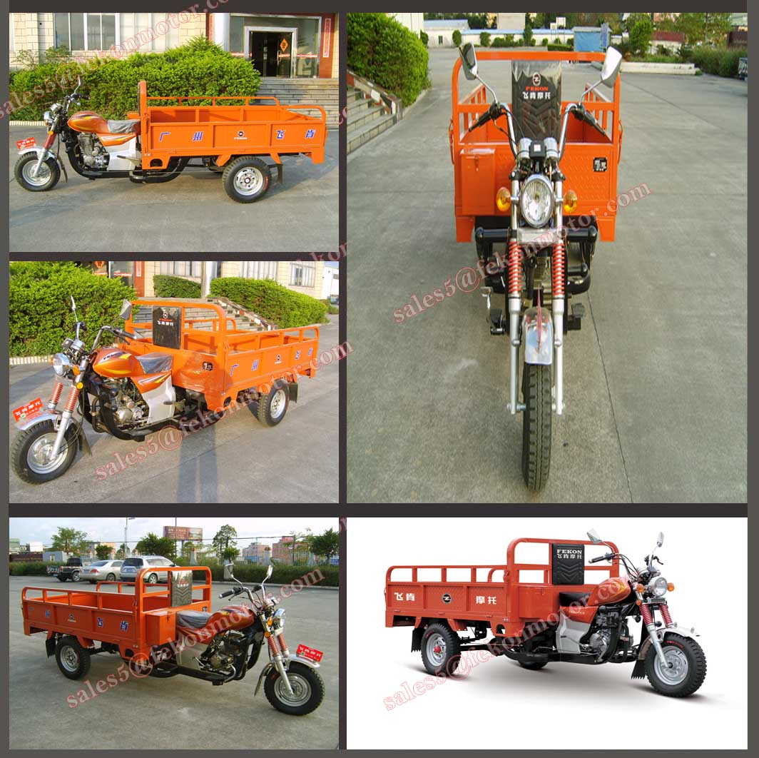 Fekon 200cc 250cc tricycle for cargo with booster