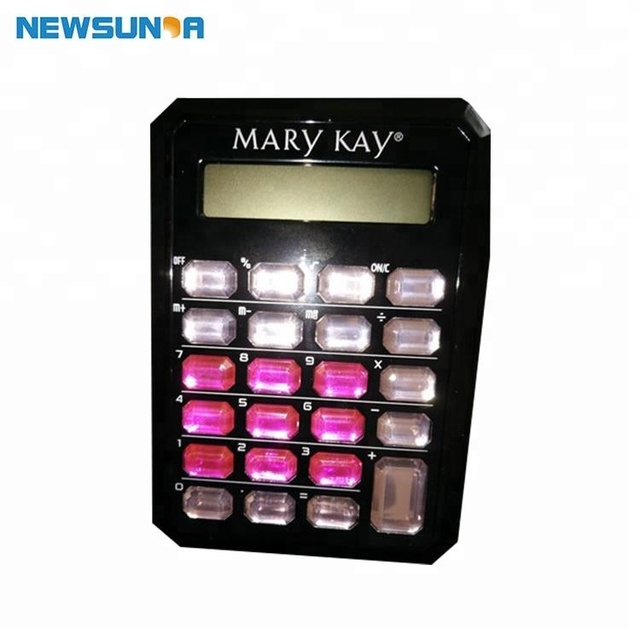 Amortization kids love jeweled color crystal key calculator