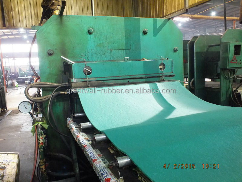 Green Colorful Product Natural SBR Rubber Sheet For Korean And Janpan Market