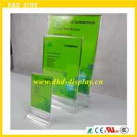 Acrylic Menu Holders, Lucite Table Tents, A4 Acrylic Sign Holder