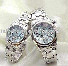 Best Round Dial Alloy Case Fashion Couple Watch Men & Women Lover Quartz Watches
