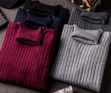 S11247A 2015 Winter newest arrival colorful men turtleneck knit thick pullover sweater