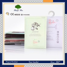 Eco-friendly car air refresher natural fresh scented fragrance bags paper sachet concentrated flavors for clothes