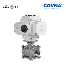 3 Pieces Threaded Full Port Ball Valve with Electric Actuator