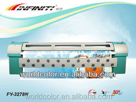 3.2m Infiniti Flex Banner Printing Machine Price FY-3278N with SPT 510/50pl print banner
