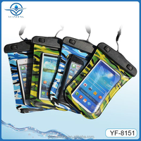 China wholesale PVC+ABS waterproof case for All 4.3-4.5inch screen phones with clear window and sealed clip for swimming
