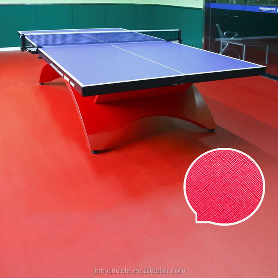 2017 High quality waterproof PVC sports flooring for pingpong tennis court
