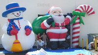 promotion inflatable advertising model/custom inflatable christmas old man