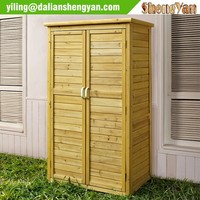 Outdoor natrual wood tool shed, garden shed