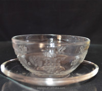 ECO friendly cheap glass tea cup and saucer/coffee glass cup/glass tea cup